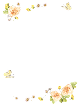 Stationery 5 - Easy color rose and field flower