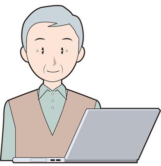Laptops and senior men