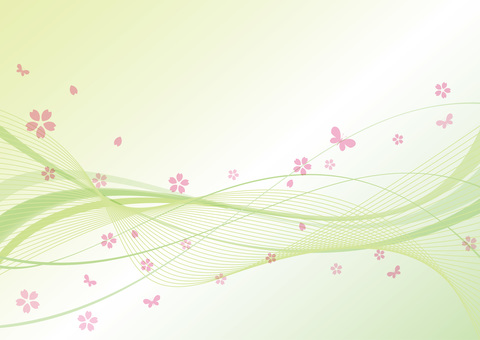 Curve background Green spring