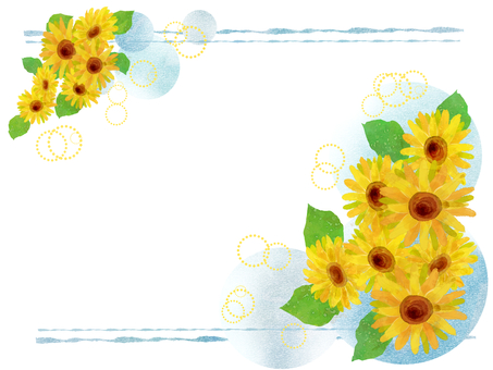 Sunflower frame 01