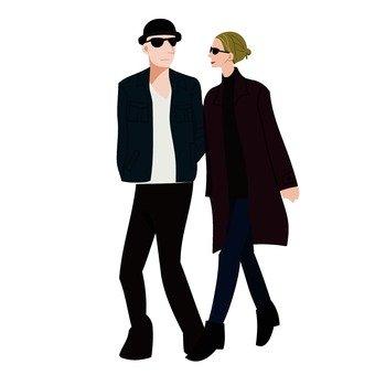 걷는 두 사람