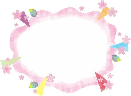 Speech balloon 10 _ 02 (cherry blossoms / spring)