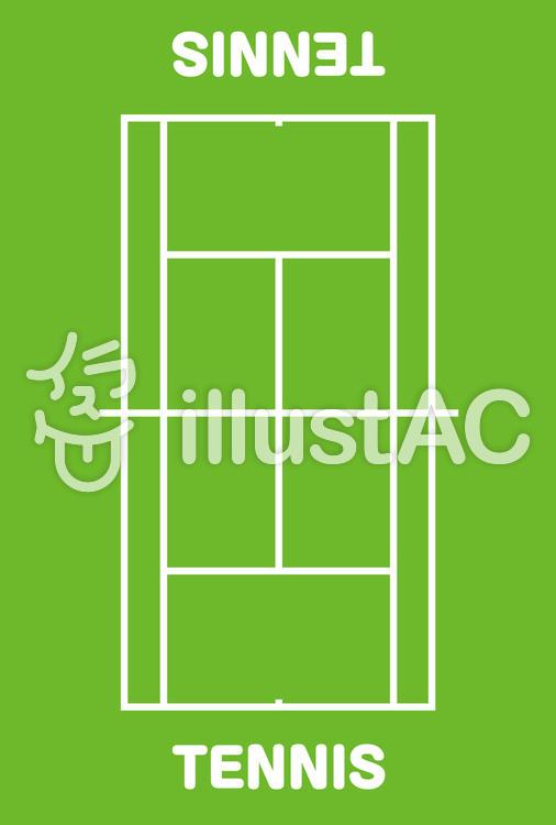 硬式軟式テニスコートイラスト No 1085028無料イラストなら