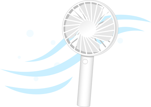 Handy fan (with wind)
