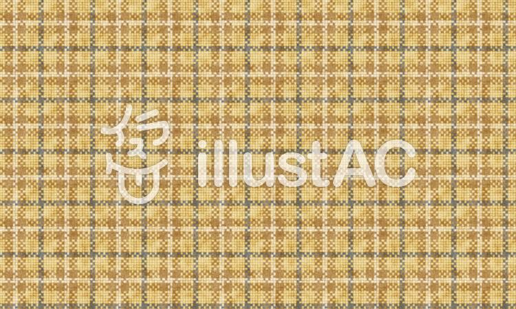 ザックリした織目のチェック布 単品のイラスト