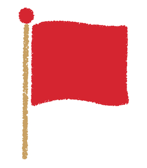 Flag _ hand-drawn _ red