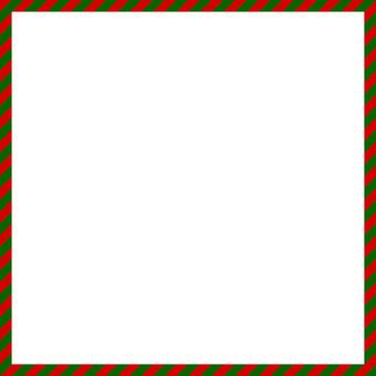クリスマススクエアフレーム