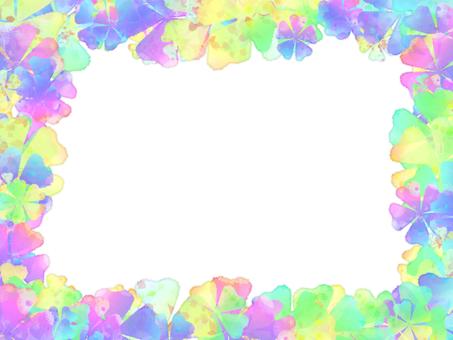 색종이 꽃 모양의 프레임