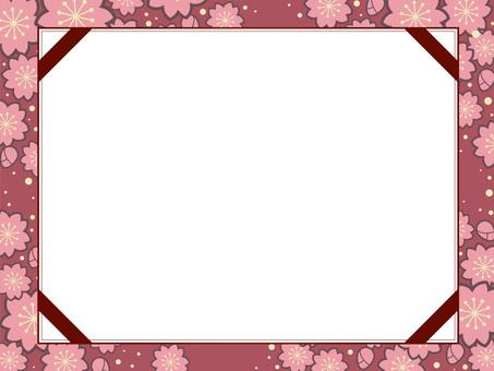 Sakura pattern frame 16