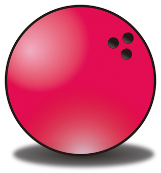Bowling ball sphere red