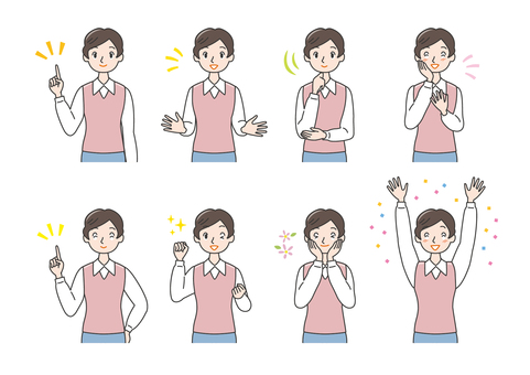 ac conflict woman emotional expression pointing