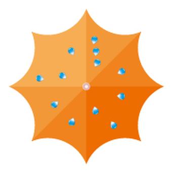 Umbrella seen from the top - Orange