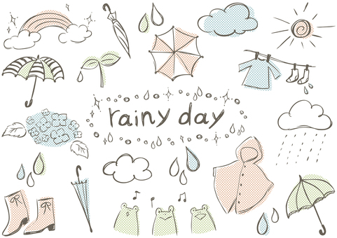 Sketch _ rainy season dots