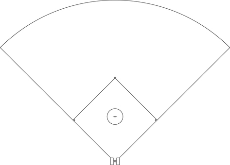 Baseball _ Softball _ Ground _ Line drawing