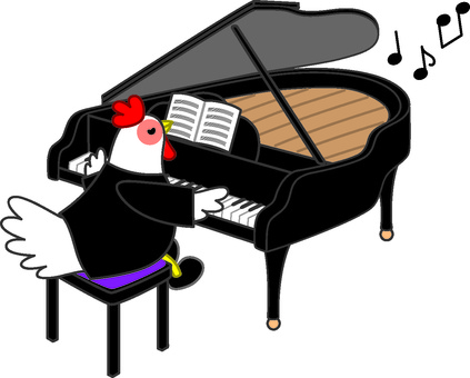 Piano and chicken