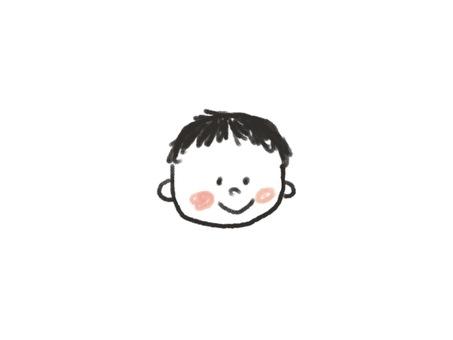 顔 手描き