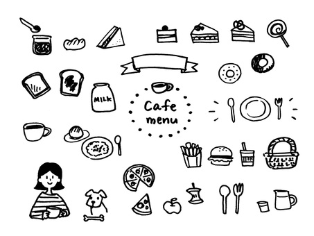小咖啡館的插圖