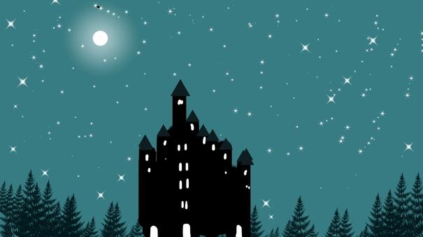 滿月照亮的城堡