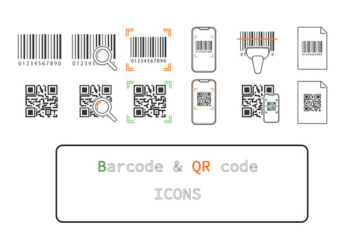 Icon [Barcode & QR_Color]