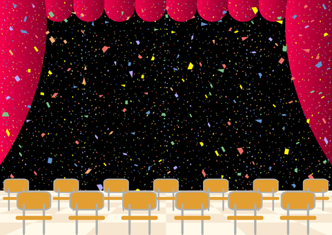 舞台 ステージ 紙吹雪 席