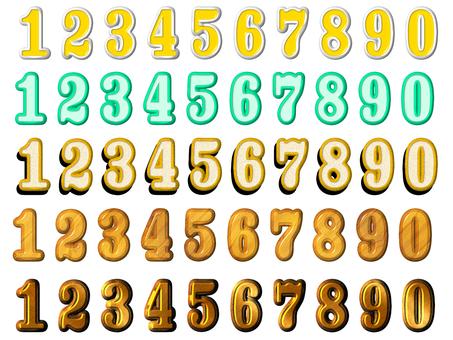 数字の文字2(立体)詰め合わせ