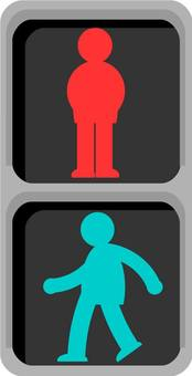 Signal LED type for pedestrians
