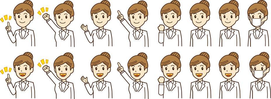 Doctor, female doctor, person illustration