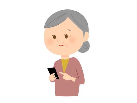 祖母開始使用智能手機
