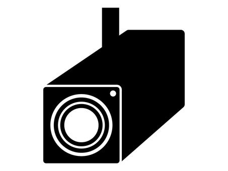 防犯カメラ・監視カメラの白黒アイコン