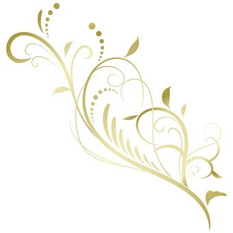 蔓草のフレーム2(金)