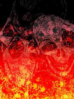 Scary background (skull)