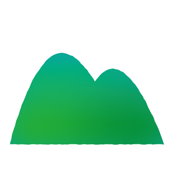 Two round mountains