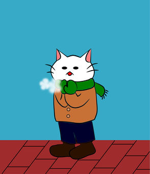 Nyanko snow in winter