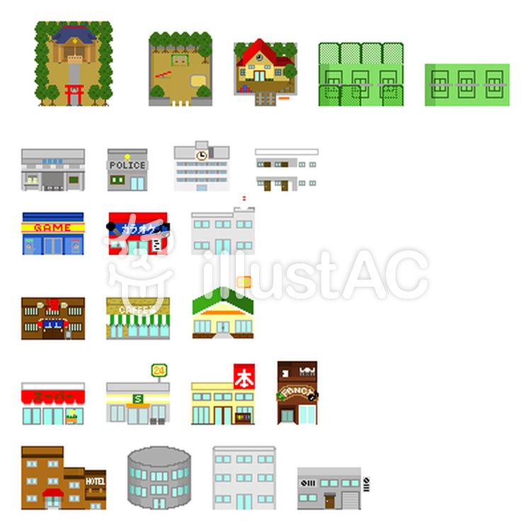 マップチップ【1】 現代の建物系イラスト , No 815720/無料