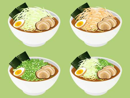 Green onion ramen set