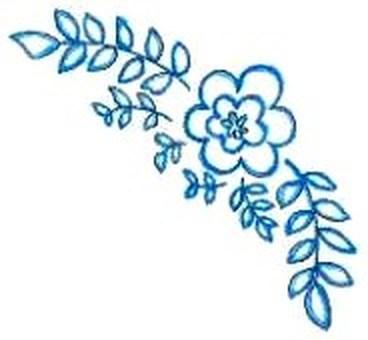 카드 : 푸른 꽃