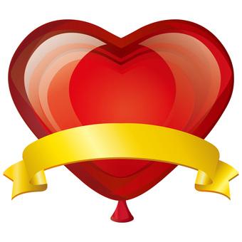 Heart ribbon ♡ heart shaped balloon decorative painting balloon