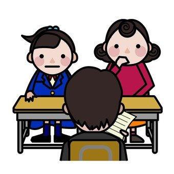 One day of junior high and high school student - three-way interview