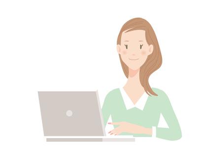 女人_電腦_工作