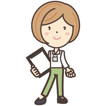 Physical education female teacher