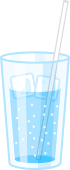 Cup _ water _ ice _ steam _ straw