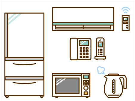 Home Appliances (Refrigerator, Air Conditioner, Range, Telephone)
