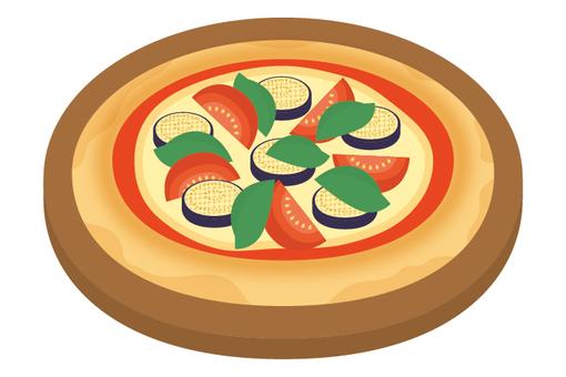 Pizza egg and tomato