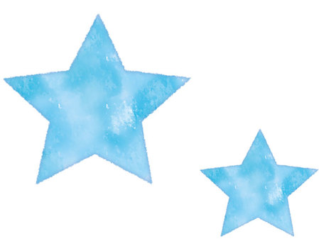 Watercolor style star blue
