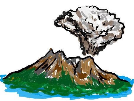 Sakurajima volcanic mountain Kagoshima