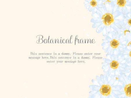 白い花のフレーム/黄色