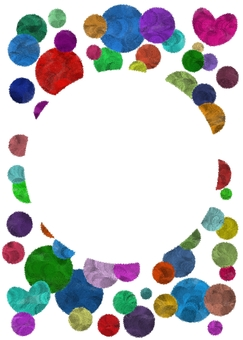 Colorful circle frame