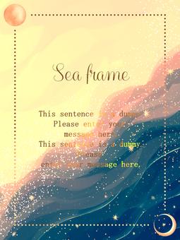 Sea frame / green a