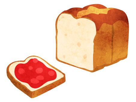 Cooking _ Pan bread _ watercolor