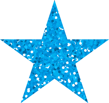 Star _ lame_ light blue